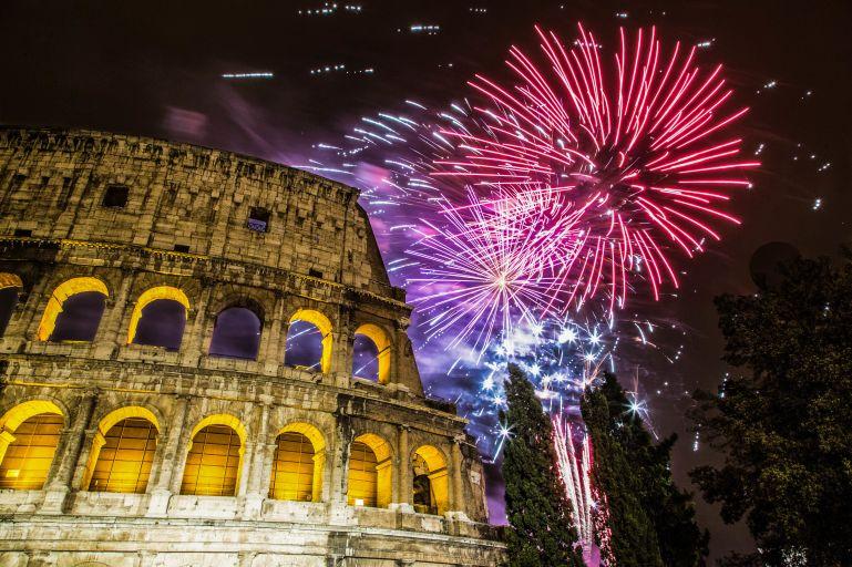 Nochevieja en Roma